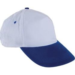Beyaz Şapka - Saks Mavi Siperli