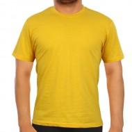 Bisiklet Yaka Sarı Tişört