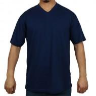 Tüp Kesim V Yaka Pamuklu Tişört