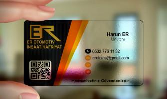 Şeffaf kartvizit tanıtım özellikleri fiyatı