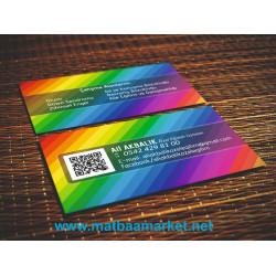 760 Micron plastik kartvizit (Kredi kartı kalınlığında ve kalitesinde)