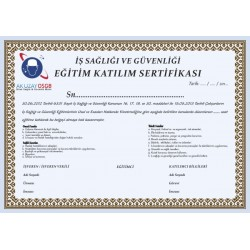 250 Gr Bristol Kağıt Baskı Sertifika